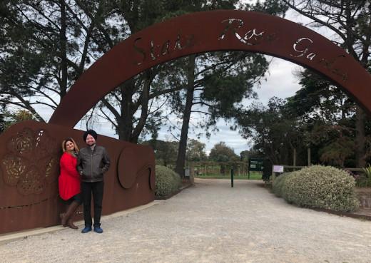 Me with Bhawana @ State Rose Garden, very near to Werribee Zoo