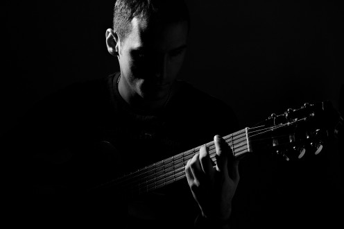 A man trying to perfect his guitar skills. Paranoid is an album that certainly has musical skill in it even for its time.