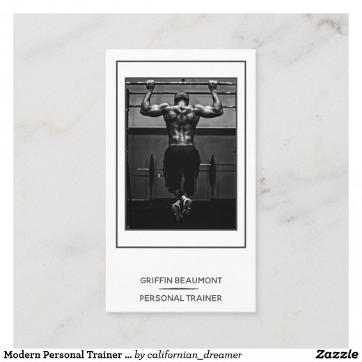Professional Personal Trainer Business Card
