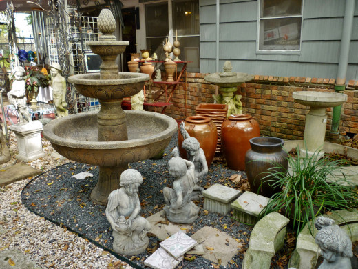 Fountains and statuary
