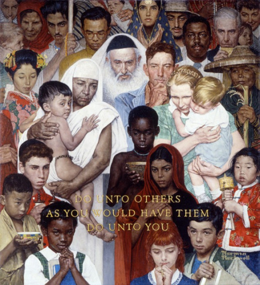 Painting by Norman Rockwell (1961)
