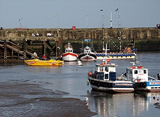 Bridlington Harbour at low Tide. At high tide it can reach within  half a metre from the top