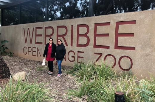 Deep & my sister, Paramjit @ Werribee Zoo Enterence