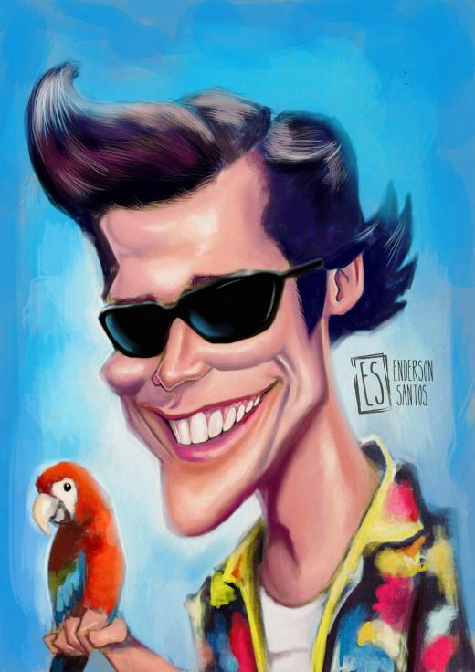 Ace Venture or Jim Carry Caricature