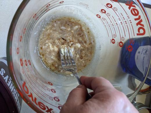 Stir vanilla and butter