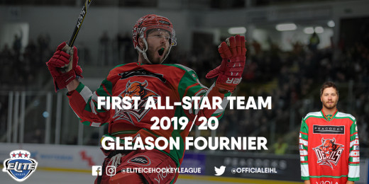 Gleason Fournier received 14.63% of nominations from fans and was joined by Mark Matheson on defence of the first line all-star team.