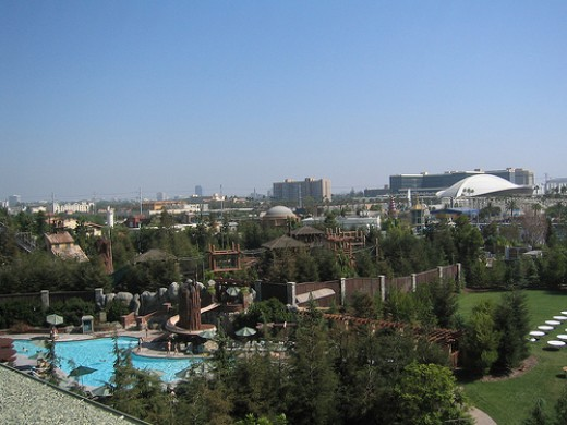 The view from Disney's Grand California Hotel