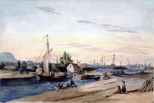 Lachine Canal, Lachine, QC, circa 1850