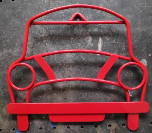 Red Mini Steel Wall Art