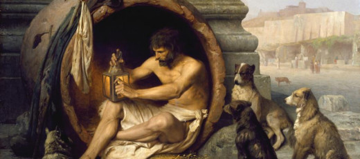 Diogenes, an acient Greek philosopher, minimalist, lived in a large jar in Athens.