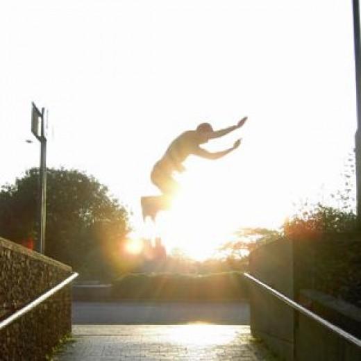 Parkour precision jump