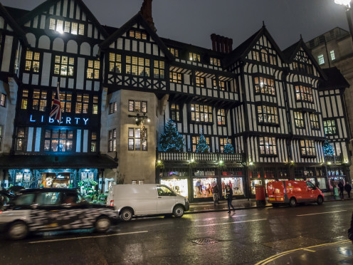 Liberty of London during the Christmas season