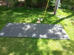 How to Paint an Outdoor Rug Farmhouse Style