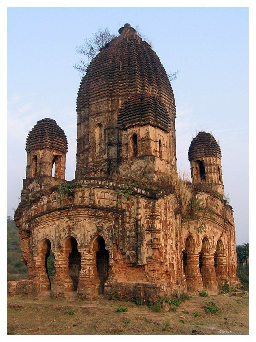 A temple @ Purulia district, West Bengal,stripped of all the terracotta panels.