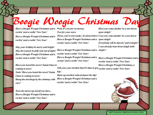 Boogie Woogie Christmas Day Lyrics