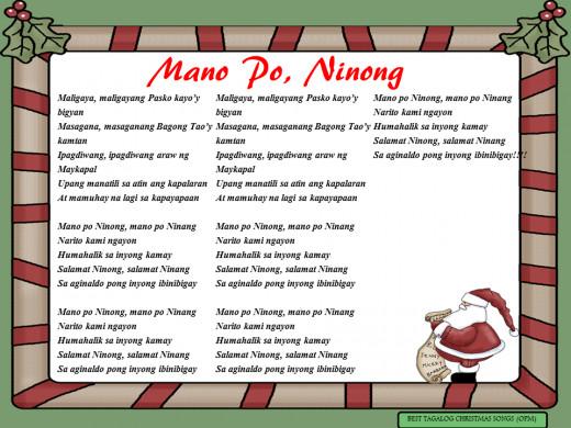 Mano Po, Ninong Lyrics