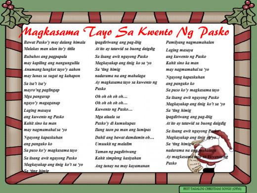 Magkasama Tayo Sa Kwento Ng Pasko Lyrics