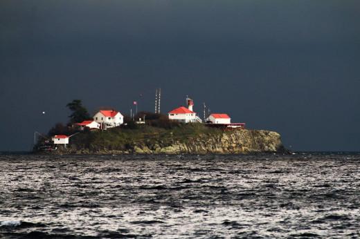 Beautiful Chrome Island off of Vancouver Island, BC Canada