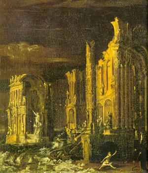 The Fall of Atlantis by Monsù Desiderio
