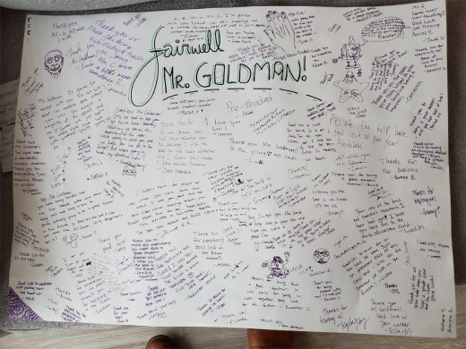 A poster made by my students on my last day of student teaching.