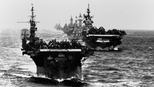 American carriers at sea