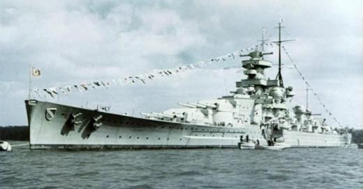 The German battleship Scharnhorst.