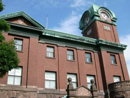 Sault Ste. Marie Museum south façade (former Post Office), Sault Ste. Marie, Ontario.