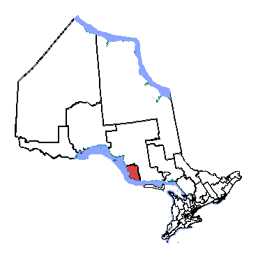 Map of Sault-Ste-Marie riding