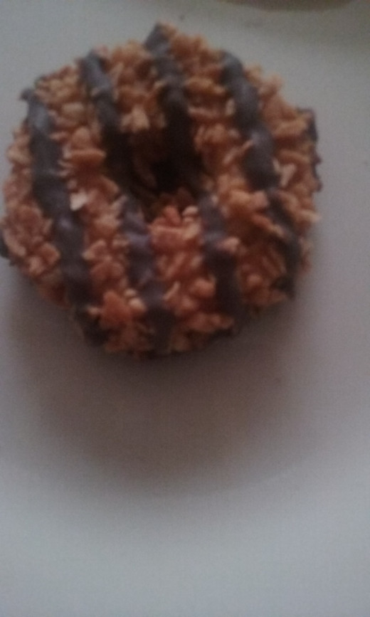 The Girl Scout cookies called Samoas have a new name. These delicious cookies are now called Caramel Delights!