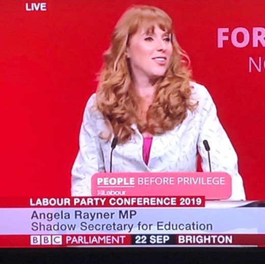 Deputy Labour Leader:  Angela Rayner.
