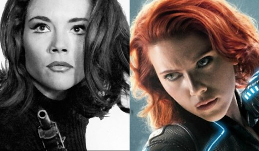 Diana Rigg was only 22 when she was discovered by Hollywood. Scarlett Johansson was 26 when she played Black Widow in the first Avengers movie.