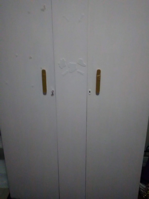 Repainting a wardrobe is easy