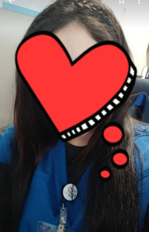 Me.. Wearing my Halo Madison Braid..