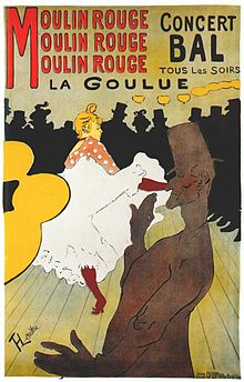 Moulin Rouge: La Goulue by Henri Toulouse-Lautrec