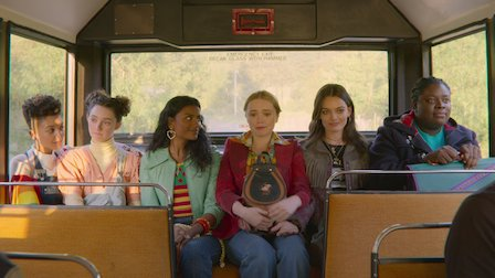 Amy finally getting in the bus with her 'new' friends