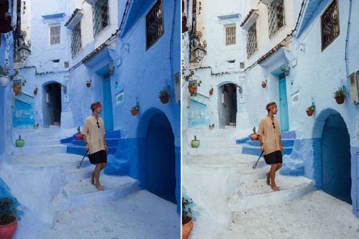 A couple's before-and-after photos expose the reality behind their 'perfect' travel pictures on Instagram