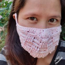Crochet Basketweave Face Mask