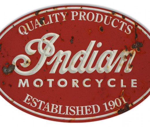 Indian Motorcycle Steel Sign