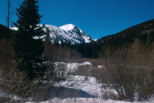 Quandary Peak (14,265') from Hoosier Pass.