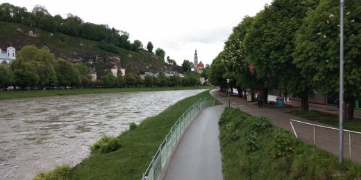 A Beautiful View of River Salzach in Salzberg, Austria