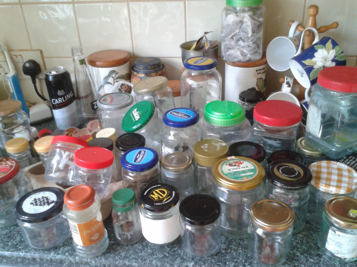 Glass Jars Galore--My Embarrassingly Large Collection of Glass Jars and Plastic Containers