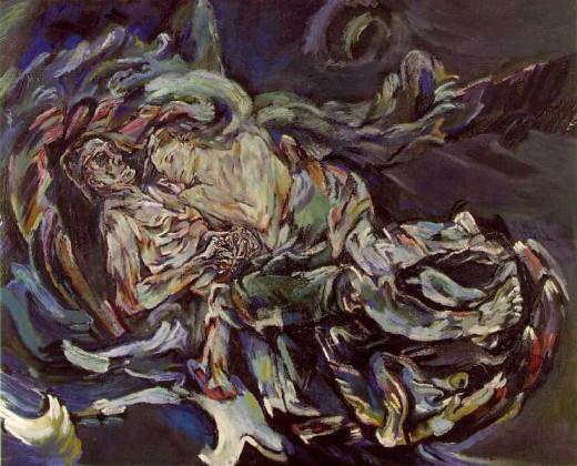 Oskar Kokoschka, The Bride of The Wind (1913-1914)