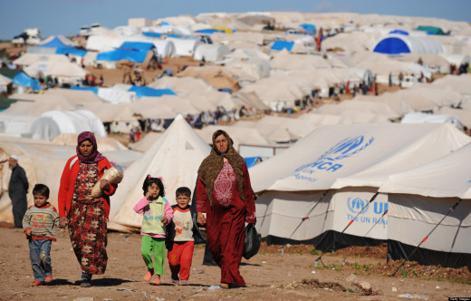 Photo of Syrian Refugees from Getty Images