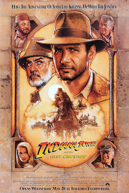 Indiana Jones and the Last Crusade Theatrical Release Poster by Drew Struzan