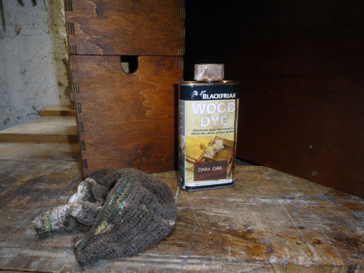 The wood dye I used for wood staining the unit.