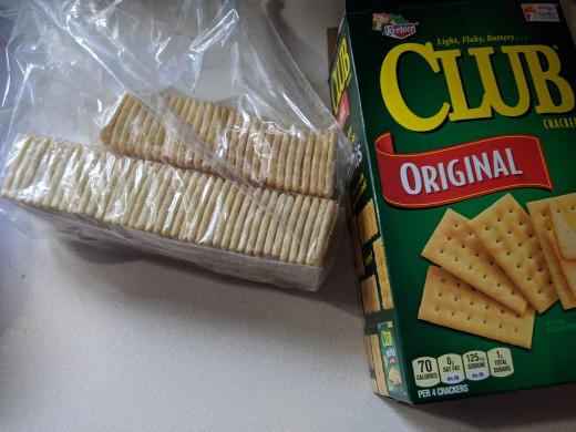 Club crackers work well