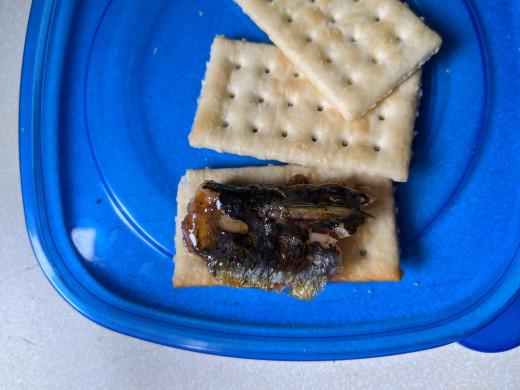 Fork full on cracker