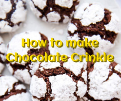 How to Make Chocolate Crinkle - Easy Recipe