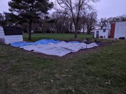 Gardening - Tarping to Avoid Frost Damage
