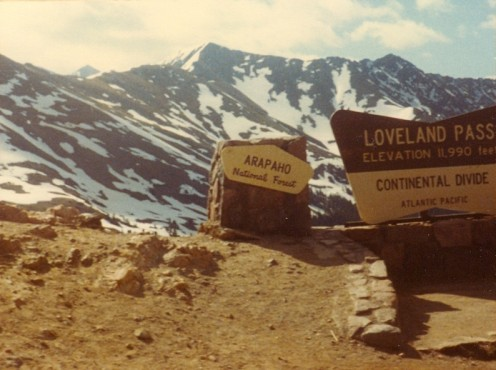 The crest of Loveland Pass looking towards Lenawee Mountain (13,205').